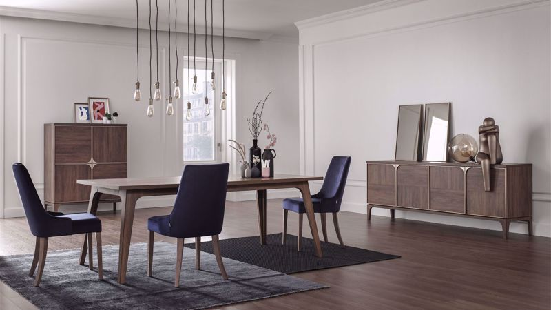 GOLD FOLDABLE DINING TABLE