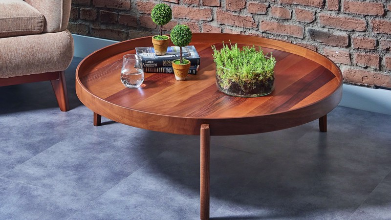 FELİX MIDDLE COFFEE TABLE (NATURAL WALNUT)