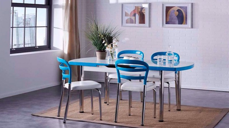 NOA KITCHEN CHAIR (TURQUOISE)