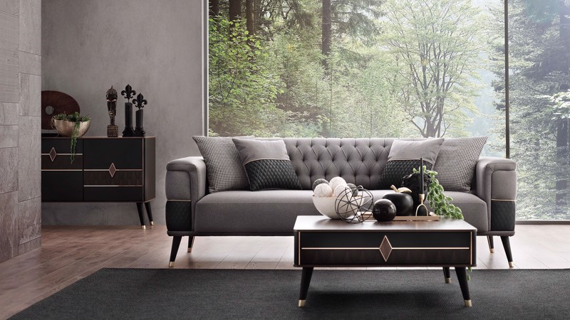 DIAMOND DOUBLE SEAT SOFA (BED TRANSFORMABLE)