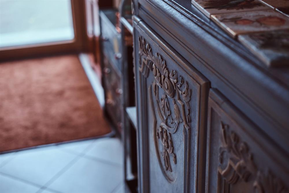 Close up photo of an armoire
